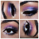 Purple and pink makeup