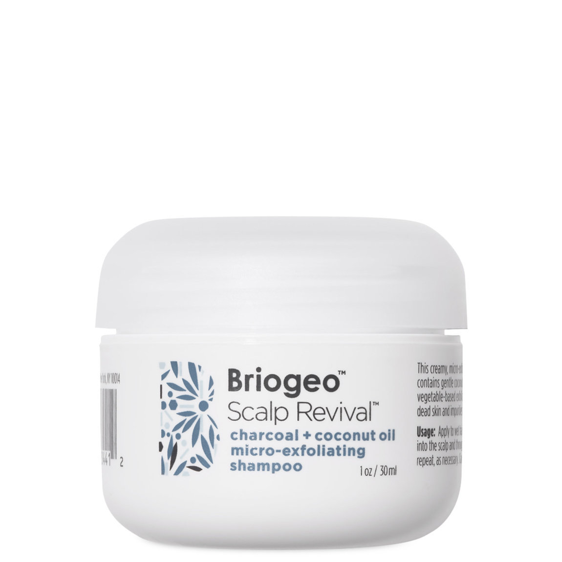 Briogeo Scalp Revival Charcoal + Coconut Oil Micro-Exfoliating Shampoo 1 oz product swatch.