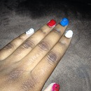 Simple 4th of July Nails! 🇺🇸
