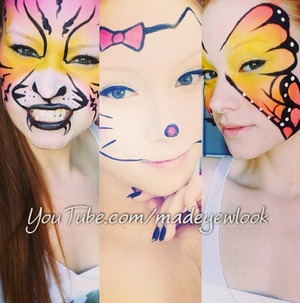 I took a brief break from scary looks to go over some children looks that are fun for kids and easy for parents! I have a total of six kids tutorials :) Check them out on my channel, youtube.com/madeyewlook!