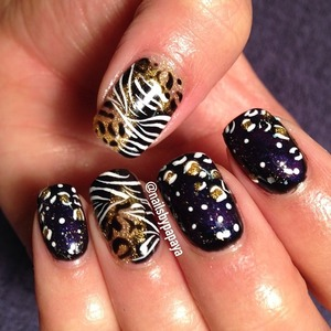 I couldn't decide whether to do animal print or galaxy so I did both!