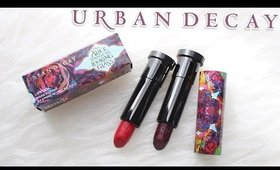 Review & Swatches: URBAN DECAY Alice Through the Looking Glass Lipsticks | Dupes!