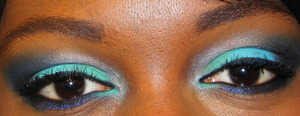 All the colors used in this look are from  Inglot Cosmetics.