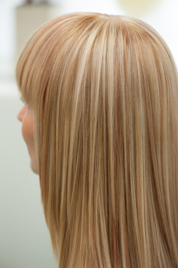 Blond Highlights With Copper Strands Frank J S Photo
