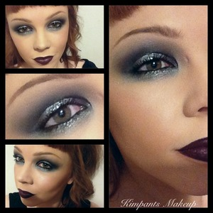 Did this similar to the smokey eye from my 'dramatic smokey eye' video but with glitter on the centre of the lid