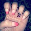 Gradient cheetah nails