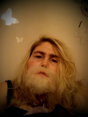 Fake beard, Spirit gum and crepe hair  !
