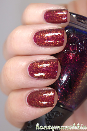 Nfu.Oh - 051 over one coat of Gina Tricot Beauty - 07 Zinfandel.  Original blog post and more information: http://wp.me/p22GZ2-17l