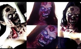 THE WALKING DEAD Zombie Halloween Makeup - Mehron Latex & SynWax