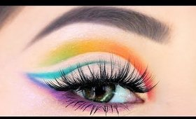 Rainbow Cut Crease Makeup Tutorial   The Perfect Cut Crease in less than 10 Easy Steps!