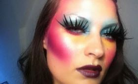 Fantasy brights make-up tutorial