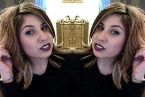 I'm using NYX matte lip cream in Transylvania. dark vamp color. much more darker than the pic