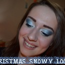Christmas snowy look