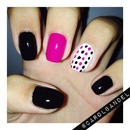 Black and pink dots.