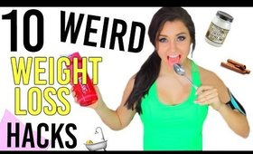10 Weird WEIGHT LOSS Life Hacks!!! Lose Weight Fast in 2016