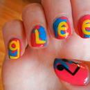 GLEE inspired nails.