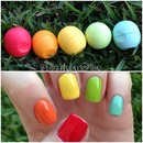 EOS lip balm inspired nails! :)