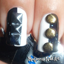 Monochrome Studded Nails!