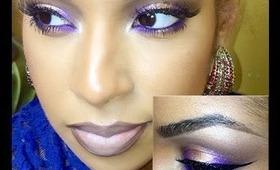 Purple and Gold Smoky eye