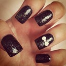 Black glitter acrylic