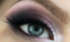 Grey & Pink Smokey Eye Makeup Tutorial