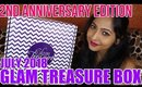 GLAM TREASURE BOX JULY 2018 Unboxing | 2nd Anniversary Edition | Stacey Castanha