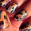 Acid Wash TyeDye Nails