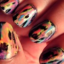 Acid Wash TyeDye Nails