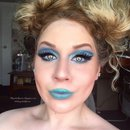 Eccentric Mermaid/Alien Oceanic Glittery Blue Cut Crease Makeup Tutorial
