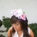 Pastel Pink & Lavender Floral Headpiece