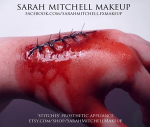 www.facebook.com/sarahmitchell.fxmakeup prosthetic sculpted, molded, applied by me