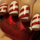 Candy cane nails ^_^ :3