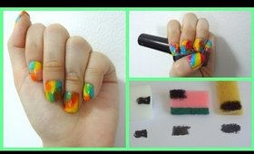 Tie dye nail art using different ways with a sponge + types of sponges!  explained for beginners!
