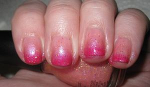 pink fade with glitter