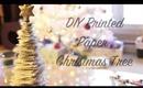 DIY Printed Paper Christmas Tree