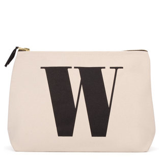 Natural Wash Bag Letter W