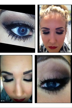 Make up by me on one of my clients twitter @cakefacetrace