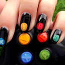 Nails Inspired by X-Box Controller