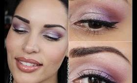 Makeup Tutorial: Metallic Purple Eyeshadow feat. Bareminerals
