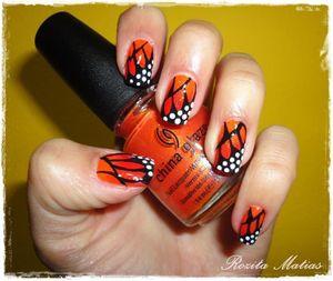 25/11/2011  Aprende a fazer em: http://mundoderozita.blogspot.com/2011/11/orange-butterfly-nails.html