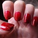 Red Glitter Ombré