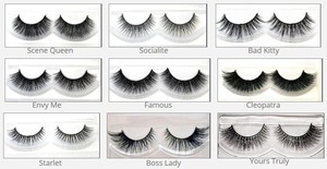Various styles of authentic mink lashes!