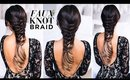 Faux Knot Braid Tutorial