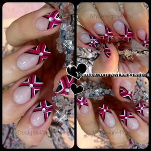 Criss Cross Fuchsia Nail Art | My Birthday Mani