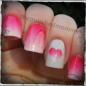 February Nail Art Challenge:Hearts. http://www.thepolishedmommy.com/2013/02/fading-heart.html