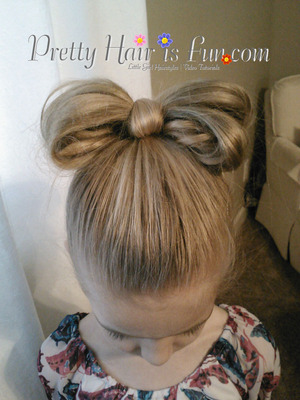 Hairstyle will show you how to make a bow out of hair.