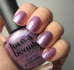Love & Beauty Purple/Blue Glitter