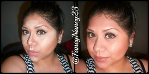 Everyday Makeup. Highlighting & Contouring before & after picture. Wearing my favorite lashes by Velour Lashes in Lash in the City and paired with Rx colored contacts. Follow me on Instagram @ FancyNancy23