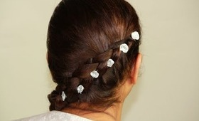 Holiday Hair Tutorial: Reverse Side French Braid /Fancy Party Hairstyle
