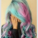 Candy floss hair <3